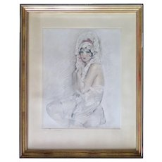French Etching, Woman, End 1800 to Early 1900s - Red Tag Sale Item