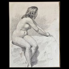 Ink Drawing, signed P. Alaerte, Belgian School, Early XX Century