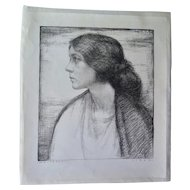 Original Large Etching by Alfred Moitroux (1923)
