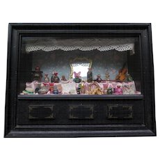 Miniature Diorama Antique French Perfume Shop Filled with Miniatures, Modern (XX Century)