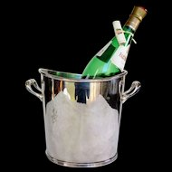 French Hotel Silver Champagne Bucket, Clardige Hotel Paris, 1920 to 1940
