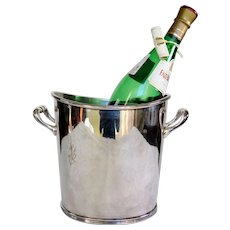 RESERVED >> French Hotel Silver Champagne Bucket, Clardige Hotel Paris, 1920 to 1940