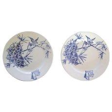Two Florio Plates, Antique Sicilian Ceramic, Early 1900s