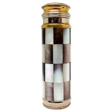 """French Art Deco Mother of Pearl and Abalone """"Le Kid"""" Atomizer Perfume Bottle by Marcel Franck, ca. 1920"""