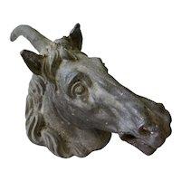 Antique Unicorn Head Door Knocker, 1800s
