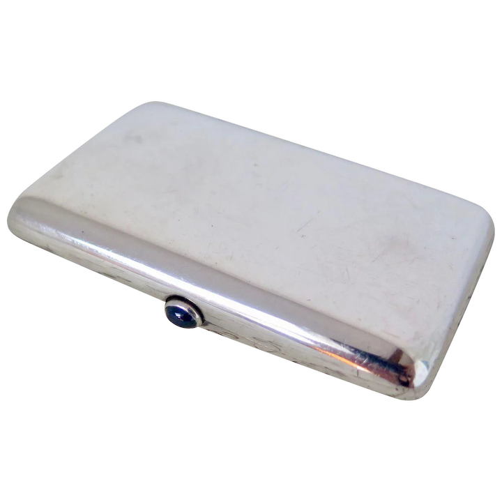 Sterling Silver Cigarette Case With