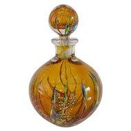 Stunning Branly Glass Bottle, Mid Century
