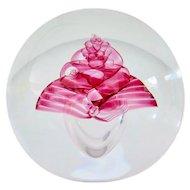 Bohemian Art Glass Paperweight, Czech, 1970-80s