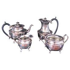 Antique Silver Plated Four Pieces Tea Set by Davis & Sons Glasgow, ca. 1900