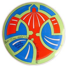 Limited edition artist plate by Rosenthal: Emilio Pucci, Italian couturier