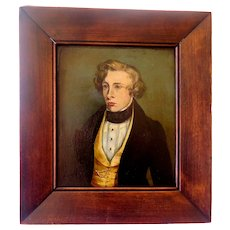 Antique Flemish Oil Painting, Portrait of a Gentleman, Oil on Board, 1800s