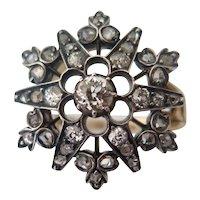 Victorian Diamond Star Ring, 19th Century