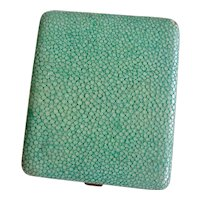 Art Deco Shagreen Cigarette or Card Case, early 1900s