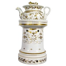 Antique Old Brussels Porcelain Tisanière, mid 19th Century