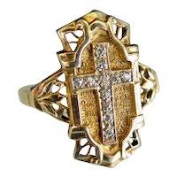 Antique Diamond Shield Ring, Turn of the Century