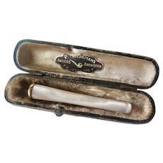 Antique Mother of Pearl Cigarette Holder, Early 1900s