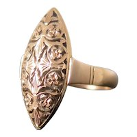 Antique 14k Gold Marquise Ring