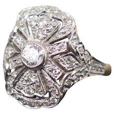 Diamond Ring 18k Gold, XX Century