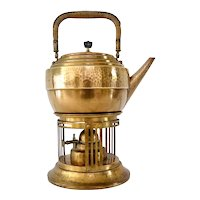 Secessionist WMF Brass Tea Kettle, ca. 1900