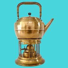 Secessionist WMF Brass Tea Kettle, ca. 1900
