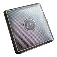 Art Deco Enameled Silver Cigarette Box, First Half 1900s