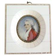 Mozart miniature portrait in Regency style