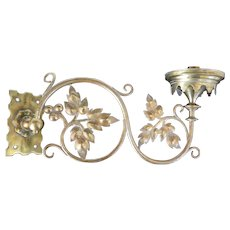 French 19th Century brass wall candle holder