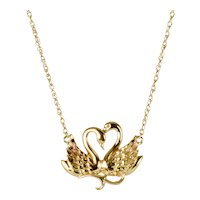 Swan Chain Necklace in 14k Yellow Gold