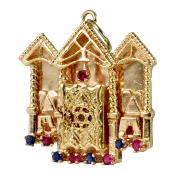 Spectacular Rubies/Sapphires  Charm/Pendant Estate Jewelry
