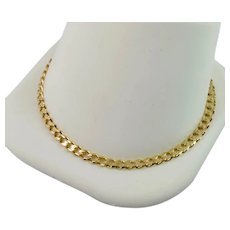 10k Solid Yellow Gold Curb Charms Bracelet 8 Inches Estate Jewelry
