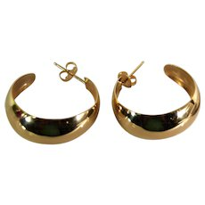 Lady 14k Polished Hoop Earrings