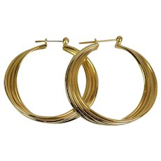 Lady 14k Classic Hoop Earrings