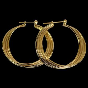 Lady 14k Classic Hoop Earrings