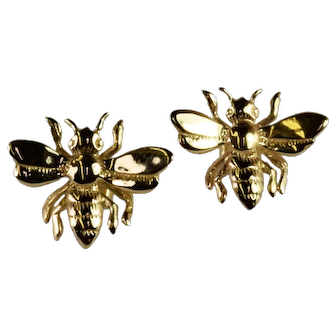 Bumble Bee Earrings in 14kt Yellow Gold Vintage