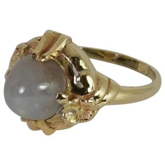 Vintage 14kt yellow Gold Star Sapphire Ring (Pre-Owned)