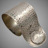 Vintage PIKES PEAK Summit House Souvenir Colorado Arts & Crafts Napkin Ring