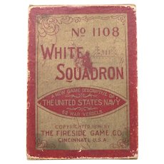 1896 White Squadron Playing CARD Game US NAVY War Vessels Ships #1108 Fireside
