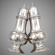 Vintage STERLING Silver Baldwin & Miller Salt & Pepper Shaker Set Colonial #48