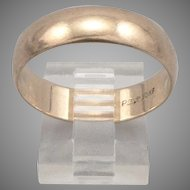 Vintage 10K Yellow GOLD Men's 6mm Wide WEDDING RING Band 4.4g Size 11.75 Plain