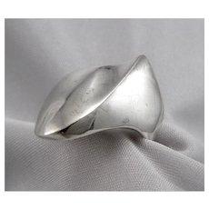 Vintage Mid Century Modern STERLING Silver RING 13.8g Size8.75 Mid-Mod Modernist