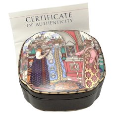 Heinrich Villeroy & Boch The Russian Fairy Tales Trinket Box Vassilissa the Fair