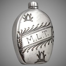 Vintage Antique STERLING Silver Mini Bottle Travel Purse Perfume or Opium MLT