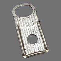 Vintage c1915 CLIPRITE Cigar Cutter Fob Nipper Nip Pocket Clip Rite Silvertone