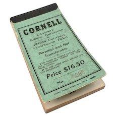 Vintage CORNELL UNIVERSITY 1957-1958 Season Athletic Association Ticket Book