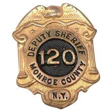 c1940's Vintage Monroe County New York NY Deputy Sheriff Badge Pin