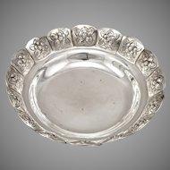 Vintage MEXICO SANBORNS Sterling Silver Handmade Floral Engraved Bowl Dish 175g