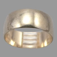 Vintage 14K Yellow GOLD 8mm Wide Cigar Band RING 5.7 Grams Size 8.5 Wedding