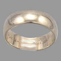 Vintage 14K Yellow GOLD 6.3mm Wide Band RING 5.5 Grams Size 8 Wedding Stacking