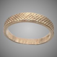 (MS) 14K Yellow GOLD Wedding Ring or Stacker Band Size 6.25 Mid Mod 2.8g Vintage