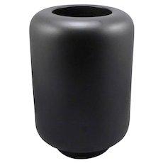 """GUCCI Matte Black 9 5/8"""" Tall Ceramic VASE Signed Mid-Mod Tom Ford Era Vintage"""